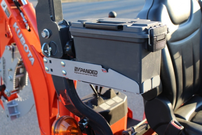 Tool Box For Tractor : Rops mounted tool box