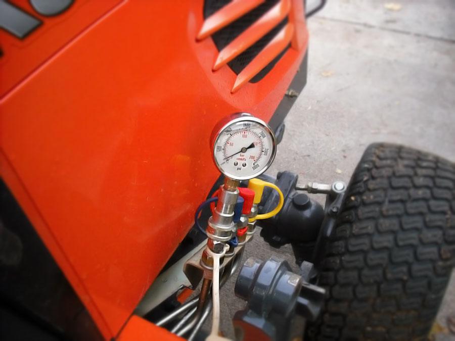 Hydraulic Pressure Test & Adjust Kit for Kubota BX, B, and L Series